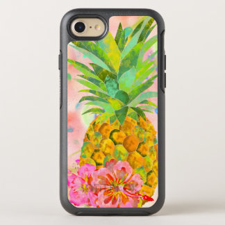 Floral pineapple OtterBox symmetry iPhone 8/7 case