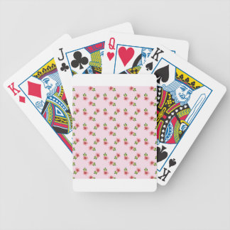Floral Pink Bicycle Playing Cards