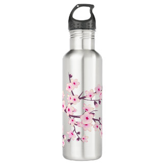 Floral Pink Cherry Blossoms 710 Ml Water Bottle