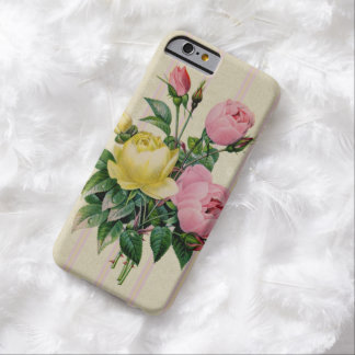 Floral Pink Chic Antique Flower Bouquet Barely There iPhone 6 Case