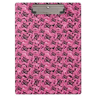 Floral Pink Collage Pattern Clipboard