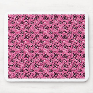 Floral Pink Collage Pattern Mouse Pad