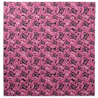 Floral Pink Collage Pattern Napkin
