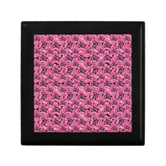 Floral Pink Collage Pattern Small Square Gift Box