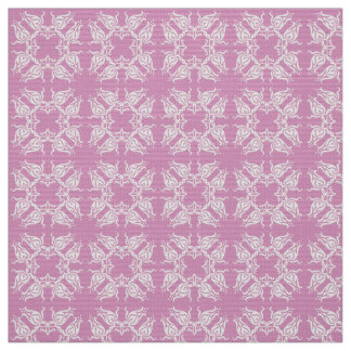 Floral pink damask patten fabric