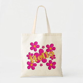 Floral pink element. Hello. Tote Bag