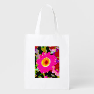 floral pink flowery shopping bag