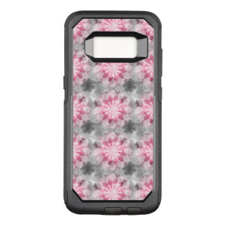 Floral Pink-gray Pattern OtterBox Commuter Samsung Galaxy S8 Case