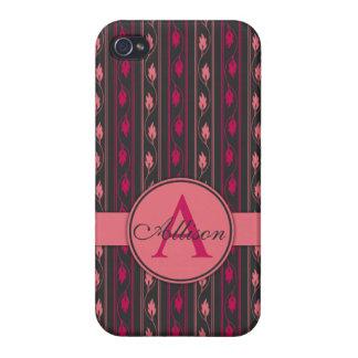Floral Pink iPhone 5 case Monogram