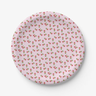 Floral Pink Paper Plate
