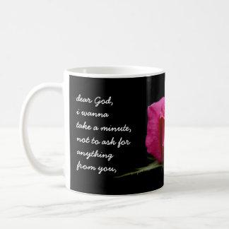 Floral Pink Rose, Dear God....Thank you for... Coffee Mug