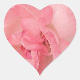 Floral Pink Rose Heart Sticker