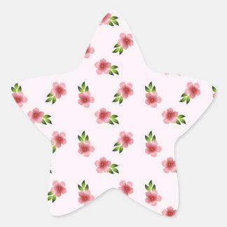 Floral Pink Star Sticker