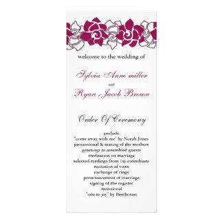 floral pink Wedding program Personalized Rack Card