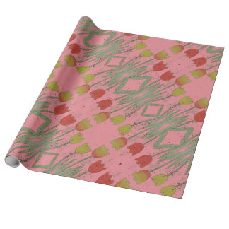 Floral Pink wrapping paper, tulip Wrapping Paper