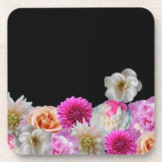 Floral Plastic Coasters (6 pcs)
