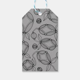 Floral Pod  Line Art Design Gift Tags