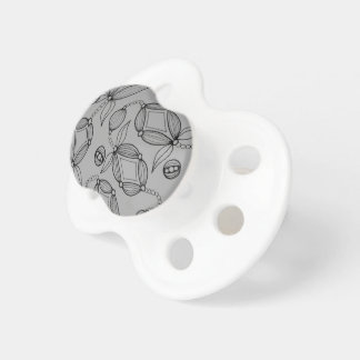 Floral Pod  Line Art Design Pacifiers