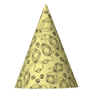 Floral Pod Line Art Design Party Hat