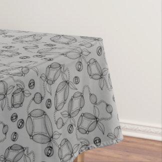 Floral Pod  Line Art Design Tablecloth