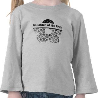 Floral & Polka Dots in Black & White Custom Tee Shirt