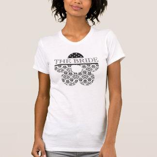 Floral & Polka Dots in Black & White Custom Tshirt
