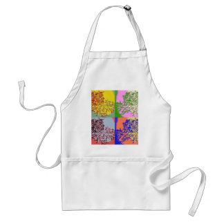 floral pop apron