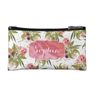 Floral Poppies Boho Make Up / Pencil Case