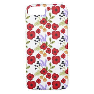 Floral  poppy  red iPhone 8/7 case