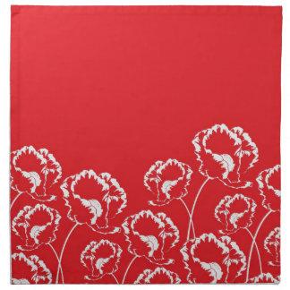 Floral Poppy Red Napkin