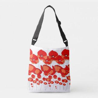 """Floral Poppy """"We will remember them"""" shoulder bag"""