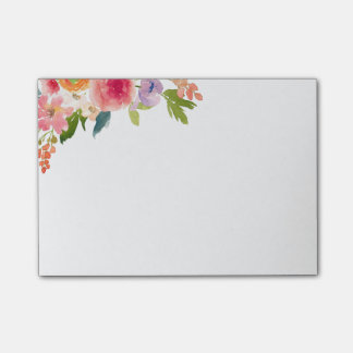 Floral Post-it Notes