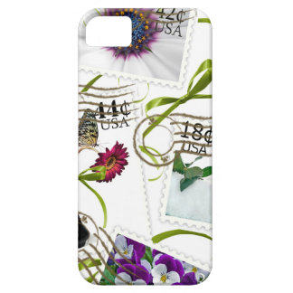 Floral Postage Stamps Barely There iPhone 5 Case