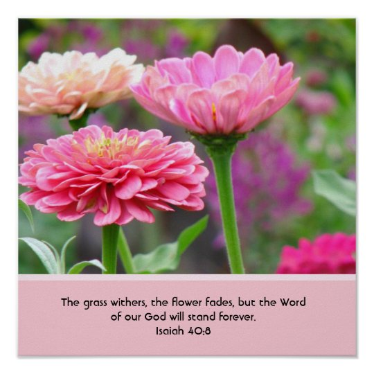 Floral Poster with Bible Verse