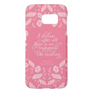 Floral Pride & Prejudice Jane Austen Bookish Quote