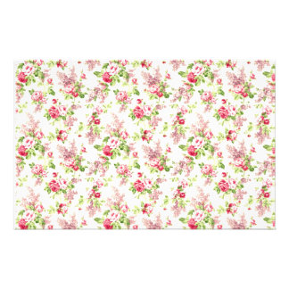 Floral Print Customised Stationery