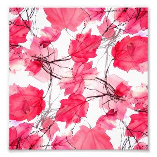 Floral Print Swirls Decorative Design Photo