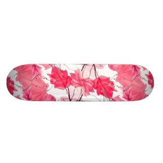 Floral Print Swirls Decorative Design Custom Skate Board