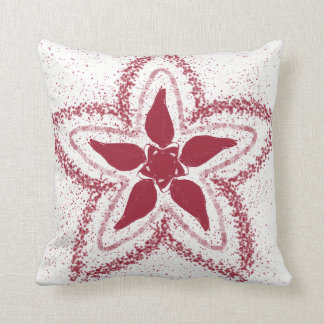 Floral Print Throw Pillow