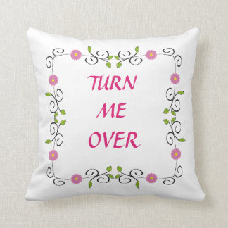 floral printed pillow/turn me over cushion