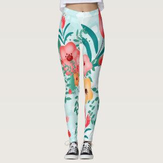 floral printing leggings