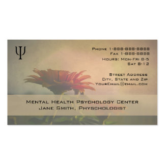 Floral Professional Phycologist Counselor Business Business Card