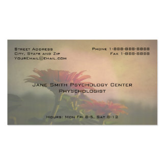 Floral Professional Phycologist Counselor Business Business Card Templates