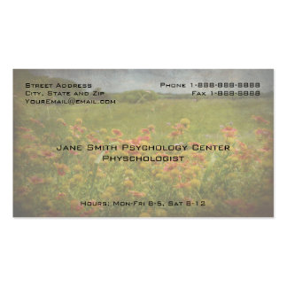 Floral Professional Phycologist Counselor Business Business Card Template