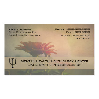 Floral Professional Phycologist Counselor Business Pack Of Standard Business Cards