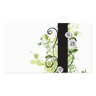 Floral Profile Card Pack Of Standard Business Cards