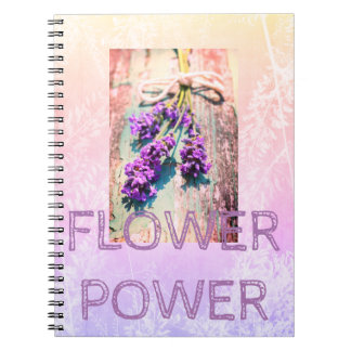 Floral Purple Notebook with beautiful flowers