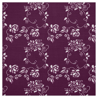 floral purple seamless pattern fabric