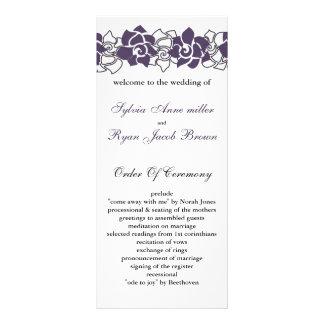 floral purple Wedding program Custom Rack Cards