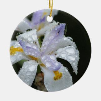 Floral Rain Drop.jpg Round Ceramic Decoration